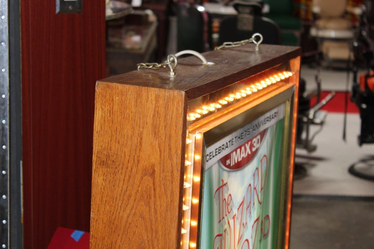 1970s Movie Theater Light Up Marquee Sign For Sale 4