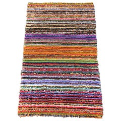 1970s Multicolored Hook Rug