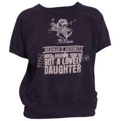 1970S Navy Blue Cotton Herman's Hermits Sweatshirt T-Shirt