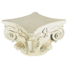 1970s Neoclassical Fiberglass Column Capital Table Base