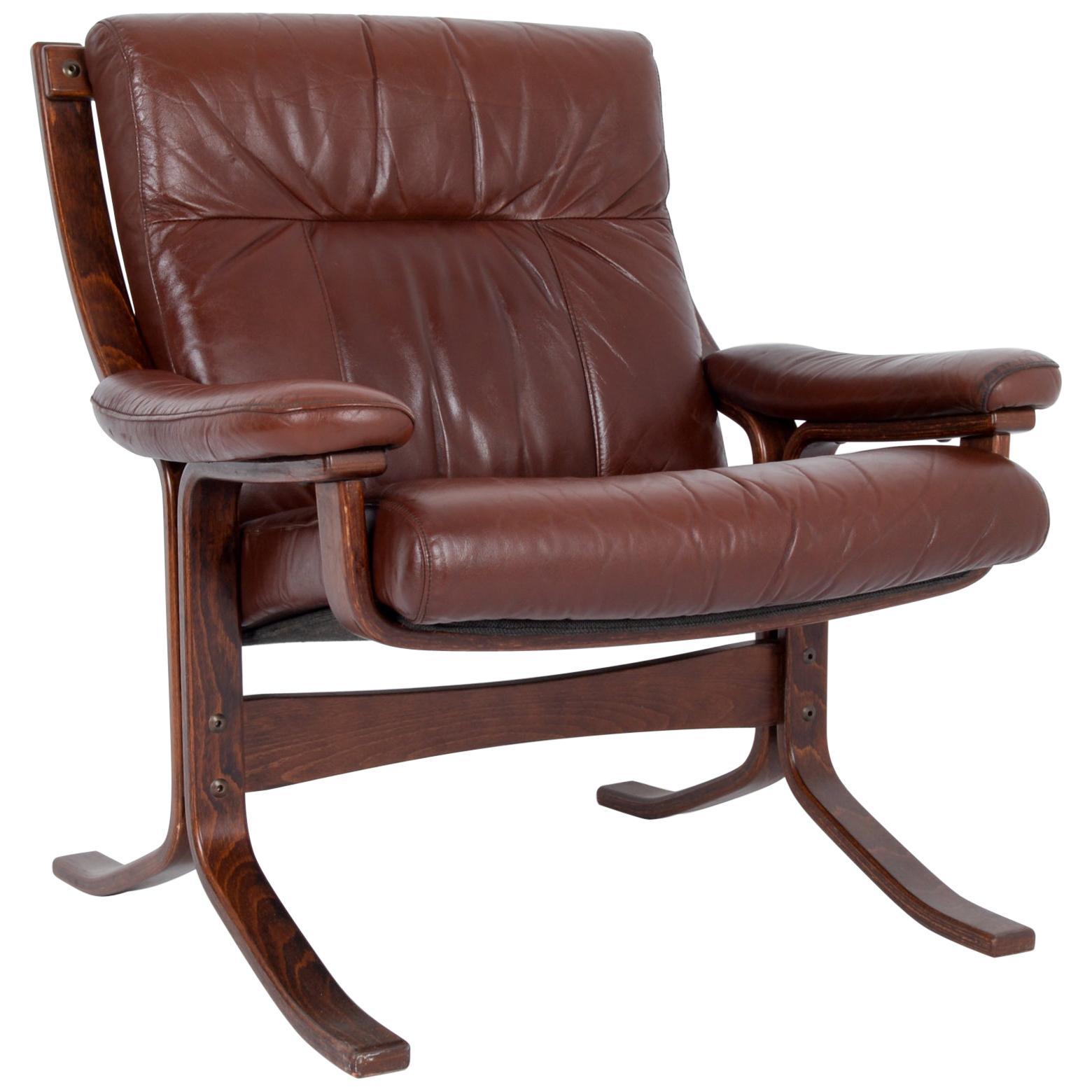 1970s Norwegian Leather Armchair