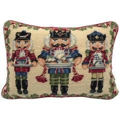 1970s Nutcracker Needlepoint Pillow