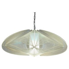 1970s Nylon and Perspex Ceiling Hanging Light Lamp by Paul Secon for Sompex