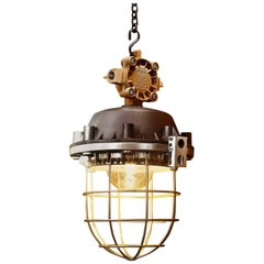 1970s OMP-200 Explosion-Proof Industrial Lamp