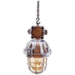 1970s OMP-300 Explosion-Proof Lamp Polished