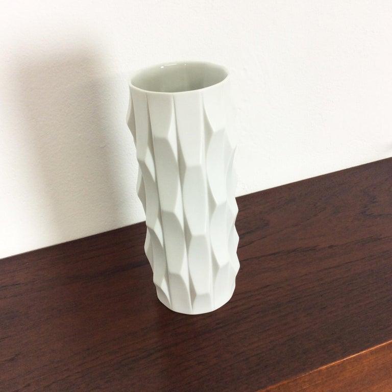 20th Century 1970s OP Art Vase Porcelain Vase by Heinrich Fuchs for Hutschenreuther, Germany For Sale