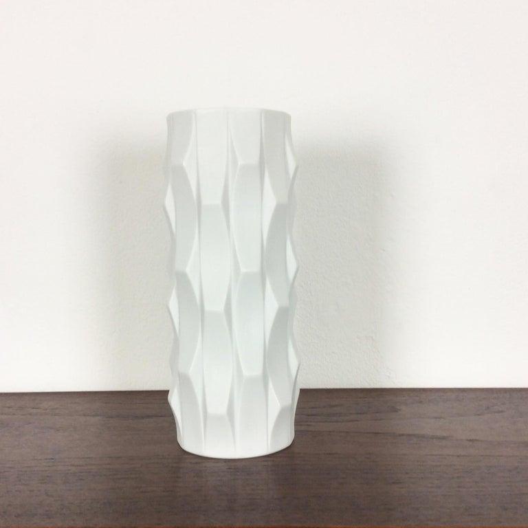 Glass 1970s OP Art Vase Porcelain Vase by Heinrich Fuchs for Hutschenreuther, Germany For Sale