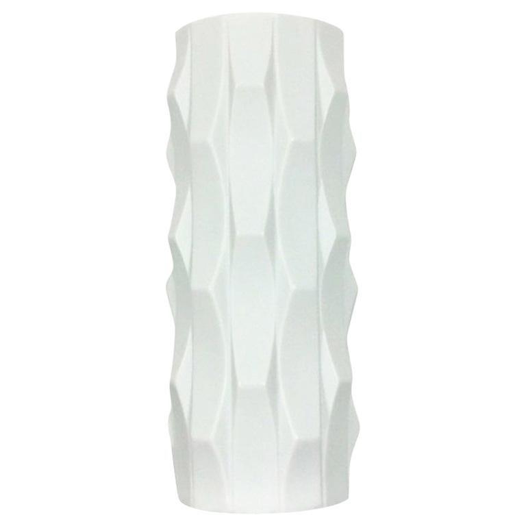 1970s OP Art Vase Porcelain Vase by Heinrich Fuchs for Hutschenreuther, Germany For Sale