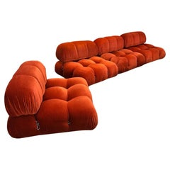 1970s Orange Camaleonda 4 Sectional Sofas by Mario Bellini, Italy
