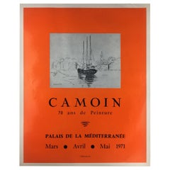 1970s Original Charles Camoin Art Exhibiton Poster