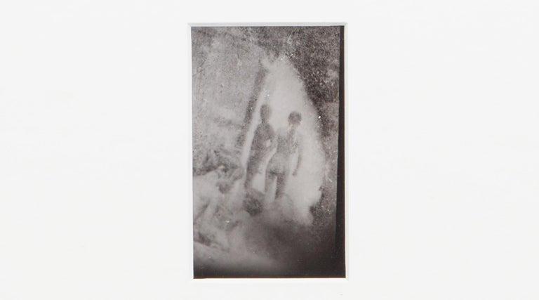 Original Miroslav Tichý b/w Photography from 1970. Unique vintage gelatin silver print. Including black wooden frame in H 26.5 / W 21 cm. This Miroslav Tichý? vintage gelatin silver print presumably depicts swimming pool swimming. Children playing