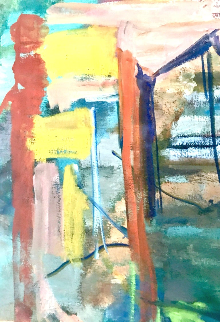 1970s Original Oil on Canvas Abstract Painting by Lynn Reimholz 2