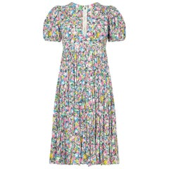 1970s Ossie Clark for Radley Celia Birtwell Bubble Print Smock Dress