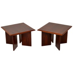 1970s Pair of Danish Vintage Side Tables
