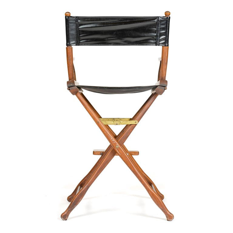 1970s Pair of High Director's Chairs In Good Condition For Sale In Sagaponack, NY