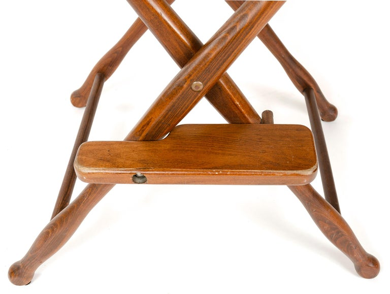 Late 20th Century 1970s Pair of High Director's Chairs For Sale