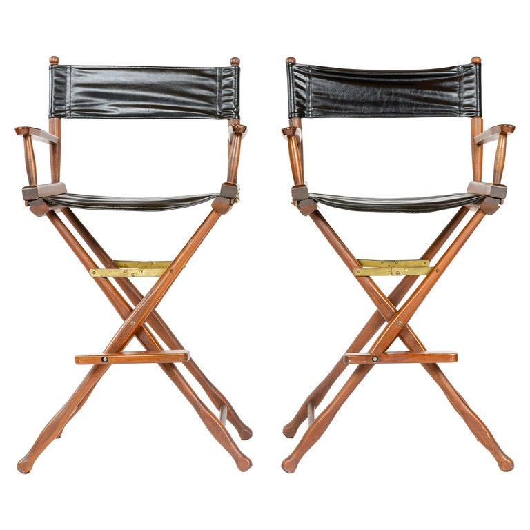 1970s Pair of High Director's Chairs For Sale