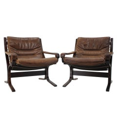 1970s Pair of Ingmar Relling Siesta Chairs for Westnofa, Norway