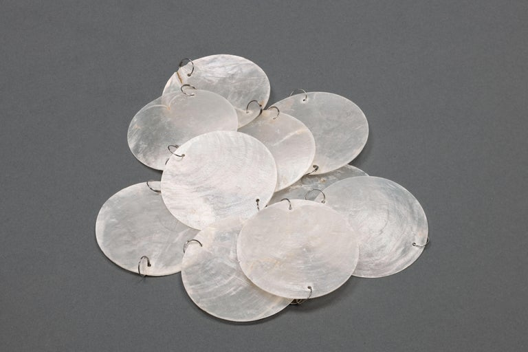 Mother-of-Pearl 1970s Pair of Mother of Pearl 'Fun 2WM' Wall Lamps by Verner Panton, NOS For Sale