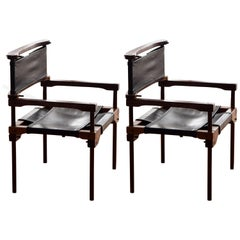 "1970s Pair of ""Perno Chairs"" Design by Don Shoemaker"