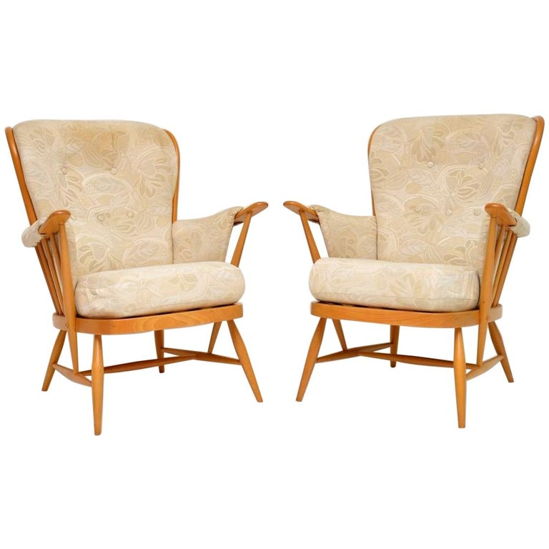 1970s Pair Of Vintage Ercol Armchairs At 1stdibs