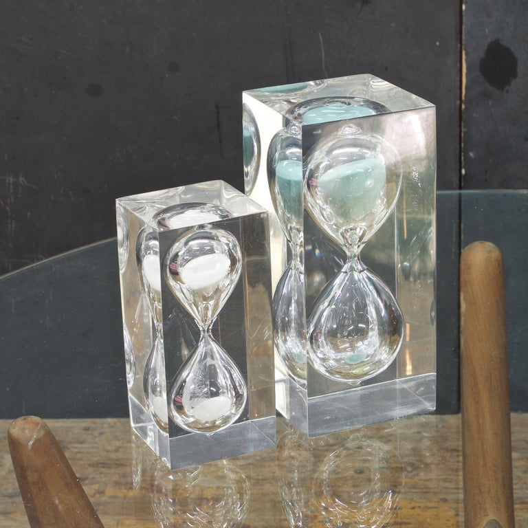Fun pair of functional sculptural accents. Measures: LG - 4 1/8 x 4 1/8 x 9 1/8 in. MD - 3 1/8 x 3 1/8 x 6 7/8 in.