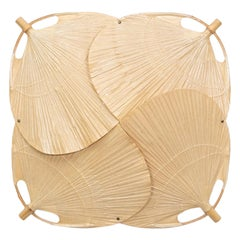 1970s Paper, Bamboo and Metal Wall or Ceiling Lamp by Ingo Maurer