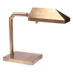 1970s Patinated Brass Chapman Table Lamp