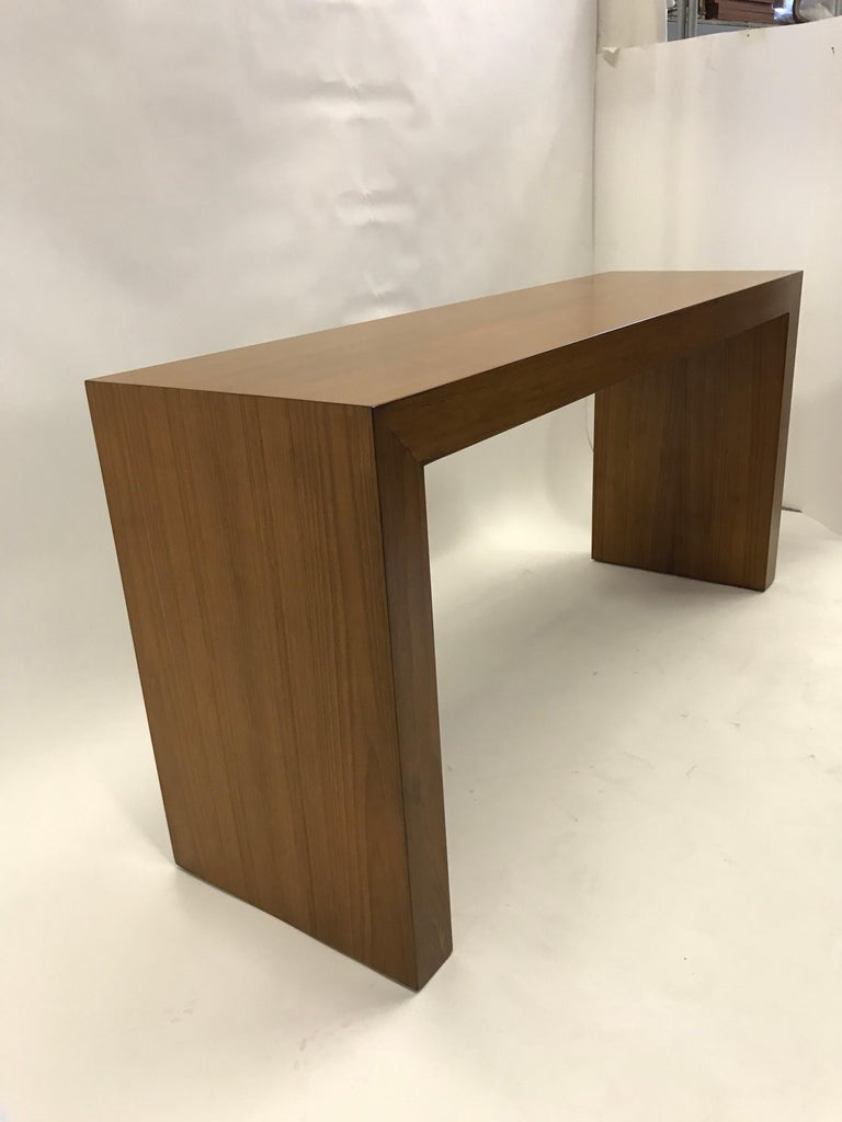 1970s Paul Mayen Teak Panel Console Table for Intrex Habitat In Good Condition For Sale In Miami, FL