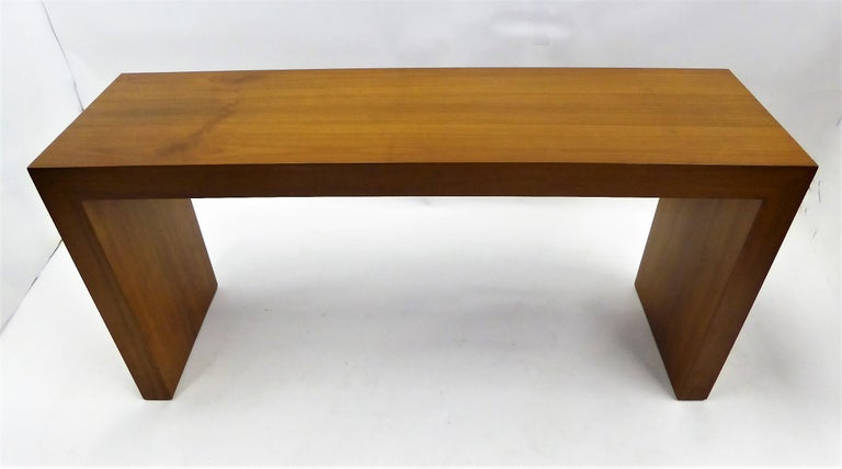 Late 20th Century 1970s Paul Mayen Teak Panel Console Table for Intrex Habitat For Sale