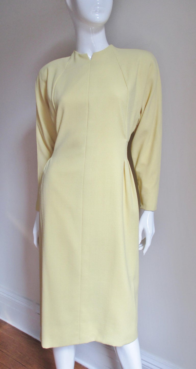 1970s Pauline Trigere Dress with Seaming For Sale 1