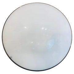 1970s Peill & Putzler Opaline & Clear Glass Wall or Ceiling Flush Lights