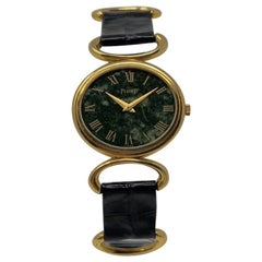 1970s Piaget Lady Watch in Gold and Jade