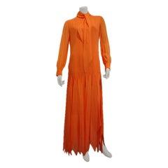 1970s Pierre Cardin Silk Chiffon Handkerchief Gown