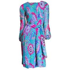 1970s Pierre Cardin Silk Dress