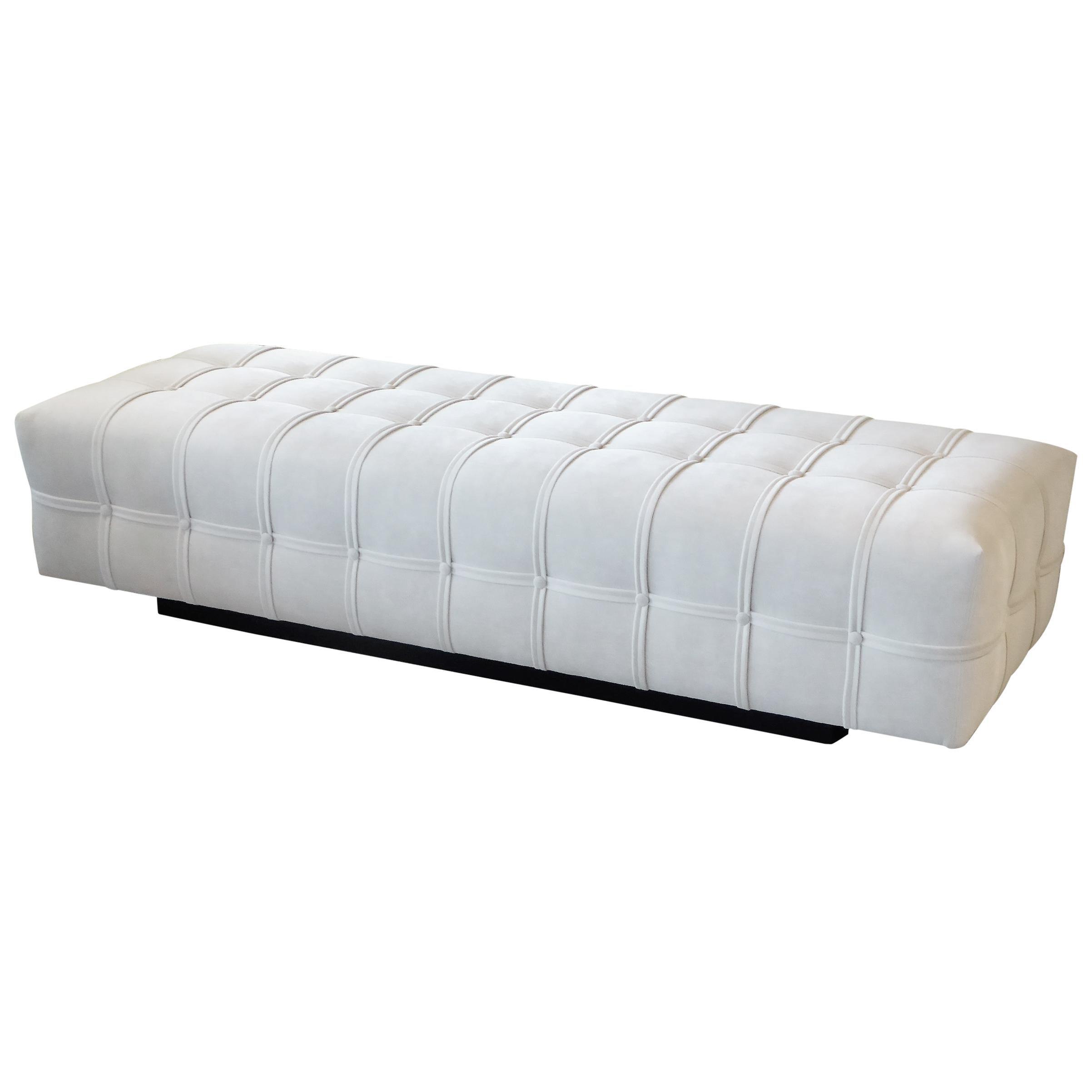 1970s Plush Brayton International Modern Sofa Bench, 2 Available