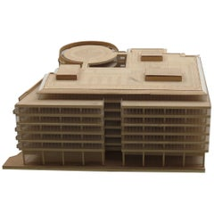 1970s Plywood and Perspex Modernist Architect's Model