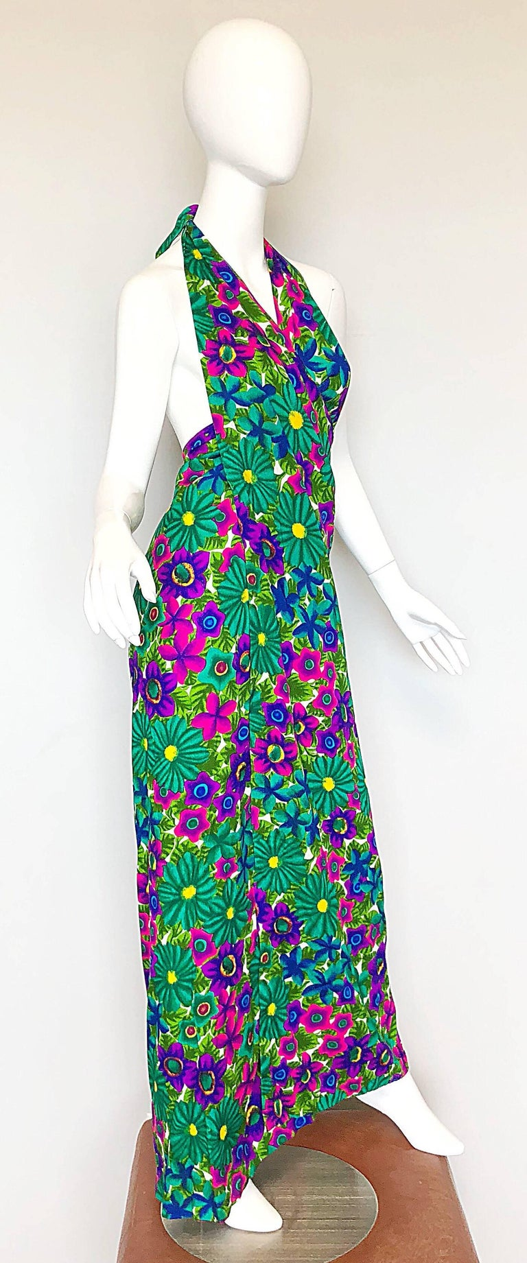 1970s Pomare Hawaiian Vintage Colorful Tropical Print
