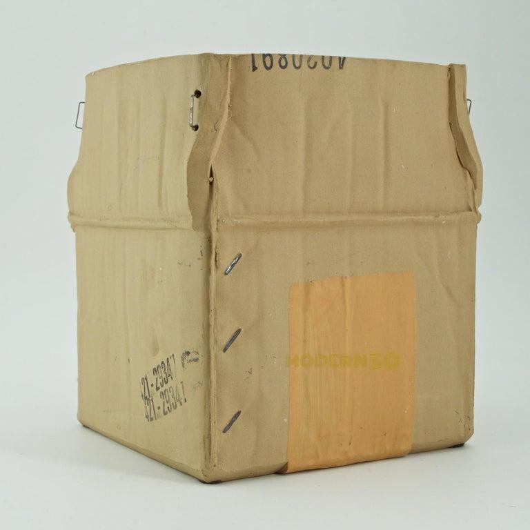 1970s Pop Art Ceramic Hypereal Sculpture Cardboard Box Flower Vase Warhol Era In Good Condition For Sale In Washington, DC