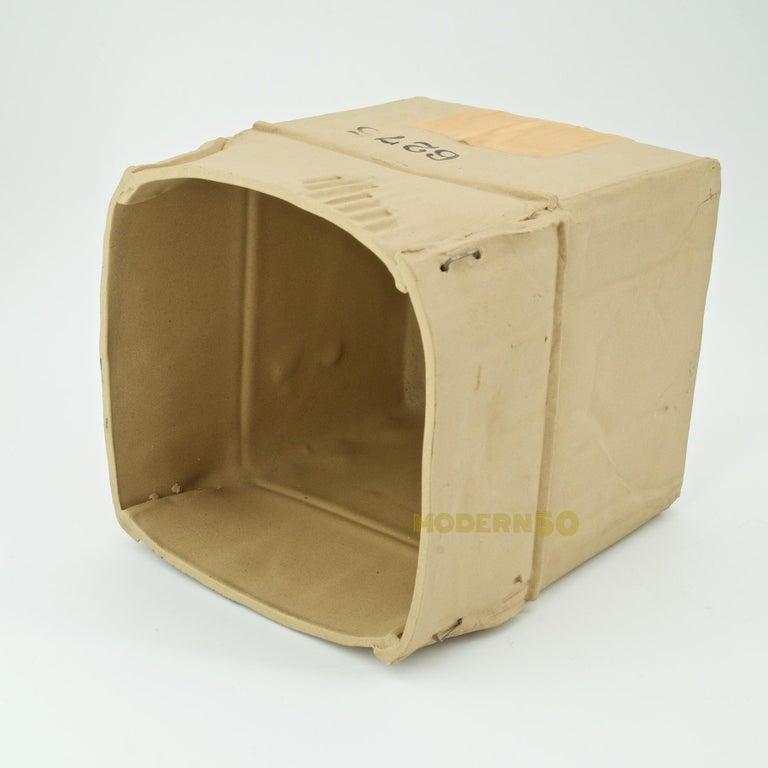 Late 20th Century 1970s Pop Art Ceramic Hypereal Sculpture Cardboard Box Flower Vase Warhol Era For Sale