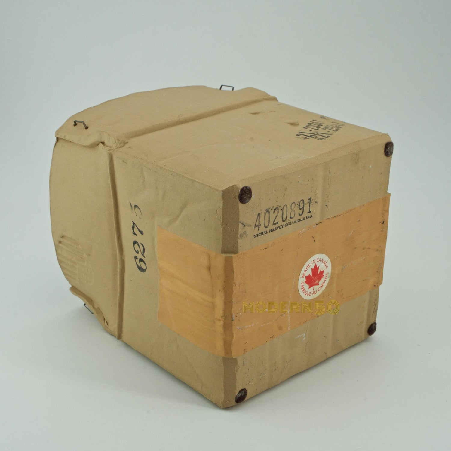 1970s Pop Art Ceramic Hypereal Sculpture Cardboard Box Flower Vase Warhol Era For Sale At 1stdibs
