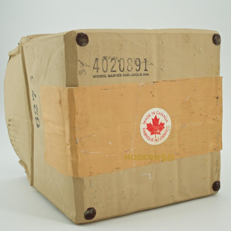 1970s Pop Art Ceramic Hypereal Sculpture Cardboard Box Flower Vase Warhol Era For Sale 2
