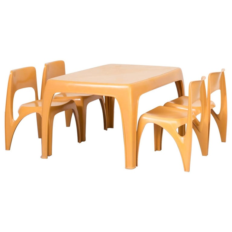 1970s Preben Fabricius Design Dining Table Set for Interplast For Sale