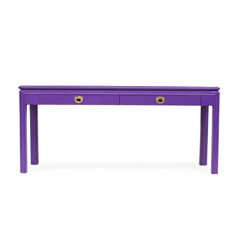 Prime 1970S Purple Console Table With Brass Handles Postmodernist Theyellowbook Wood Chair Design Ideas Theyellowbookinfo
