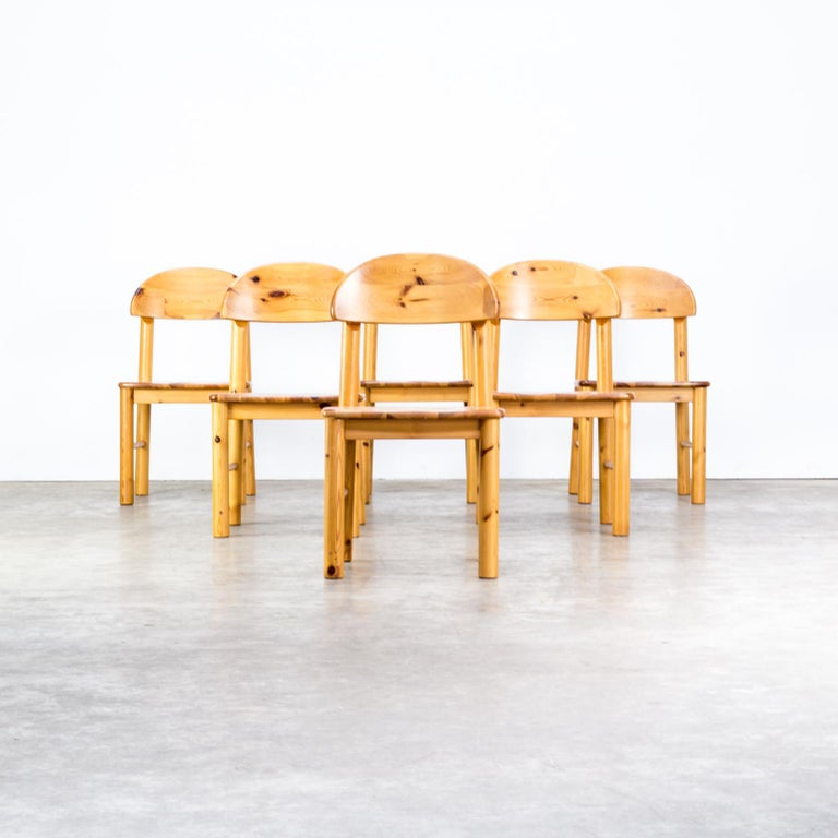 Danish 1970s Rainer Daumiller Pinewood Dining Chairs for Hirtshals Savvaerk, Set of 6