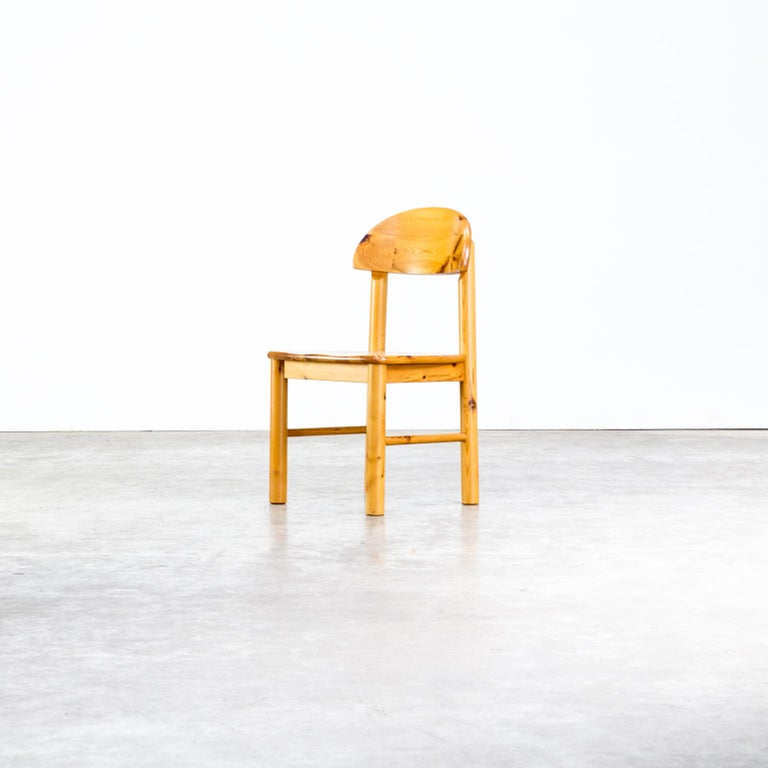 1970s Rainer Daumiller Pinewood Dining Chairs for Hirtshals Savvaerk, Set of 6 In Good Condition In Amstelveen, Noord