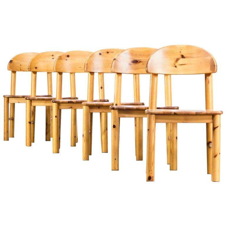 1970s Rainer Daumiller Pinewood Dining Chairs for Hirtshals Savvaerk, Set of 6