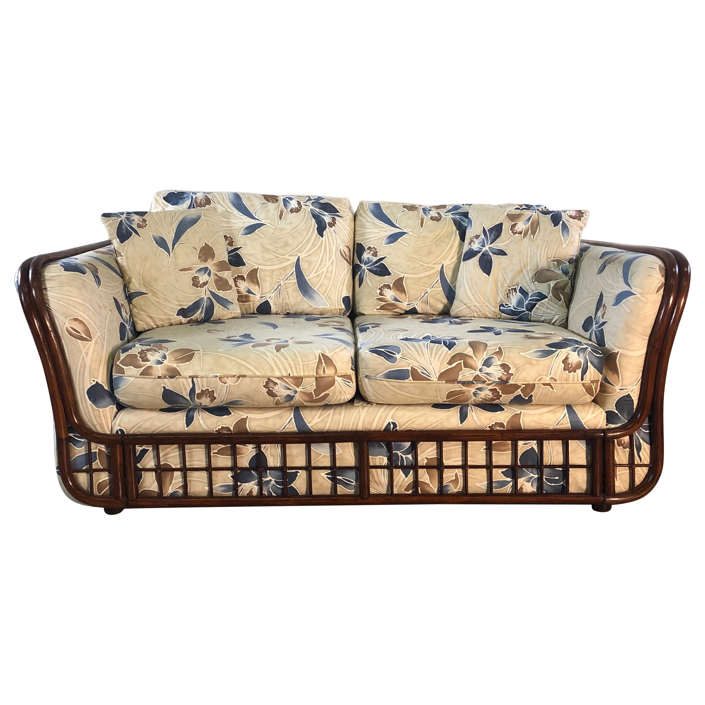 1970s Rattan 2 Seat Sofa