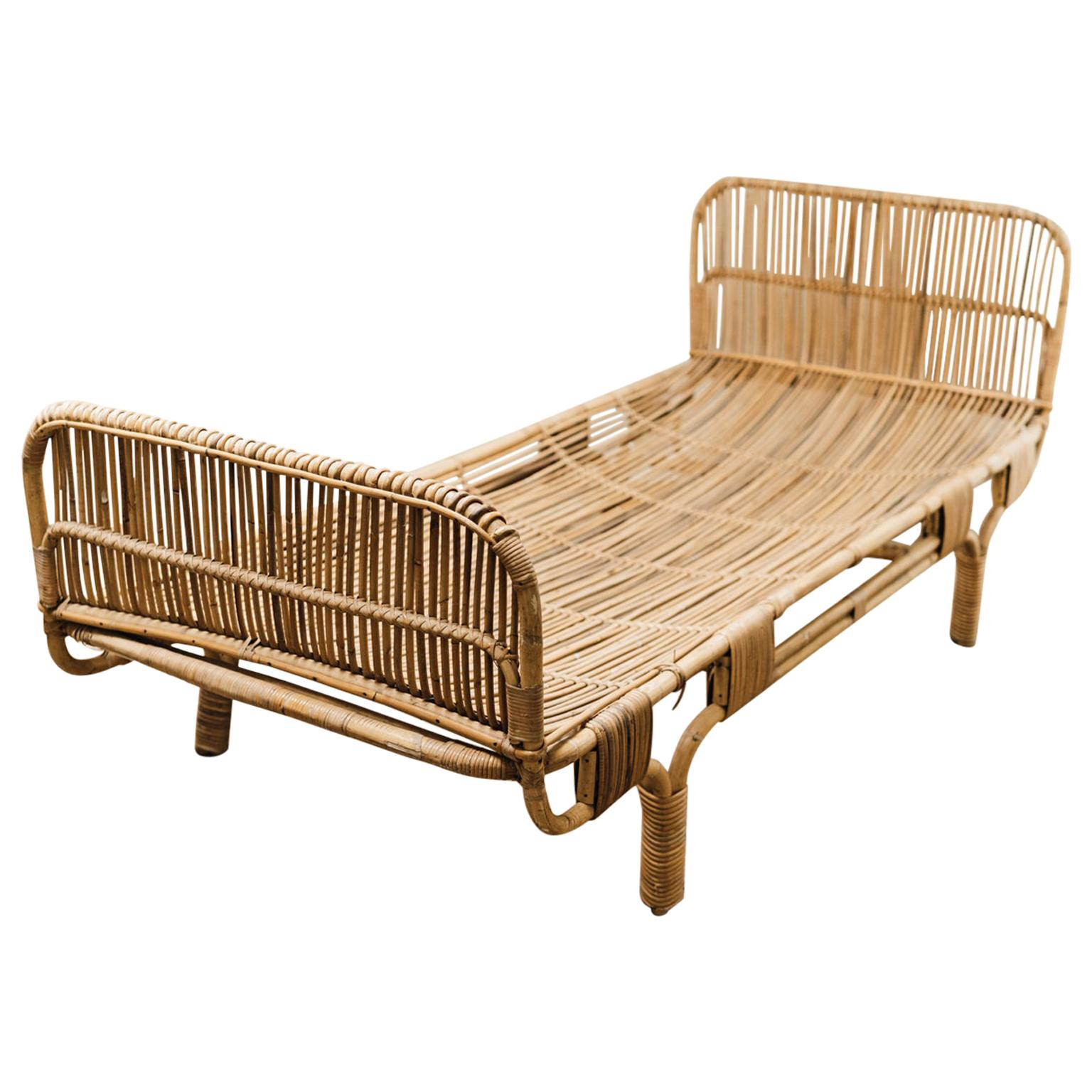 1970s Rattan Daybed