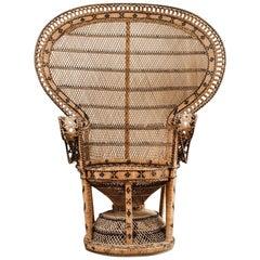 1970s Rattan Peacock Chair